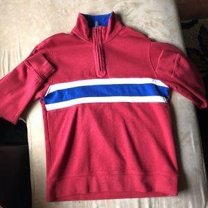 Vintage red izod track jacket small
